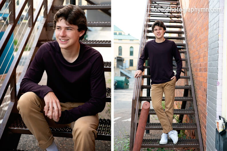 Boy Natural Senior Portraits | Focus Photography by Susan