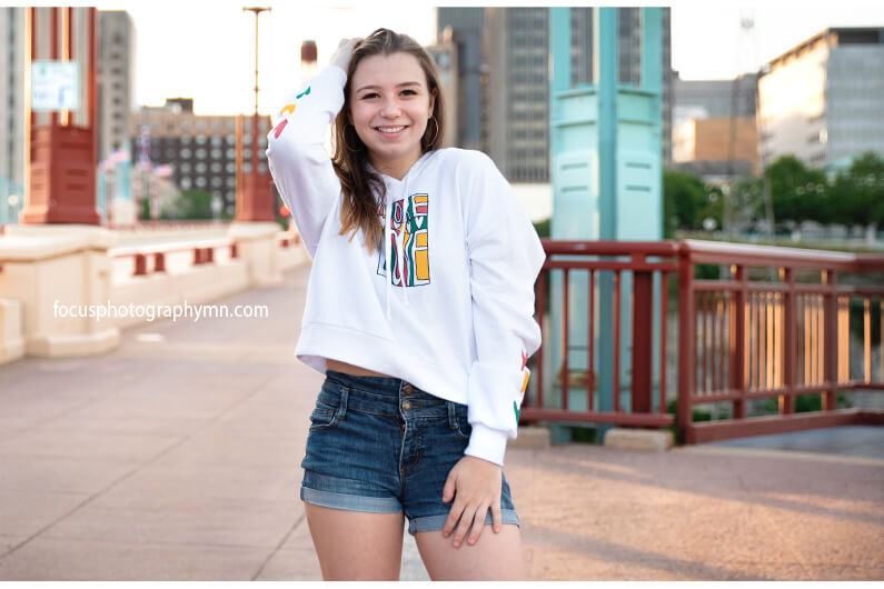 Casual City Senior Portraits | Focus Photography by Susan